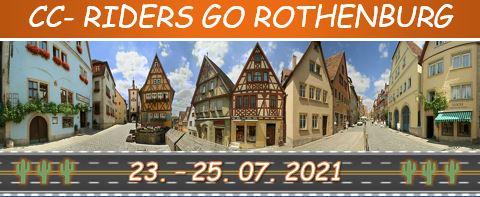 23.-25.07.2021 CC- Riders go Rothenburg ob der Tauber